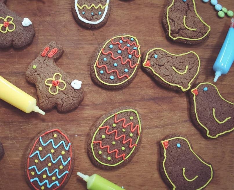 Čokoládové velikonoční perníčky.