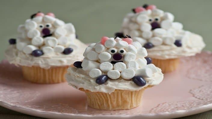 Cupcakes ve tvaru oveček