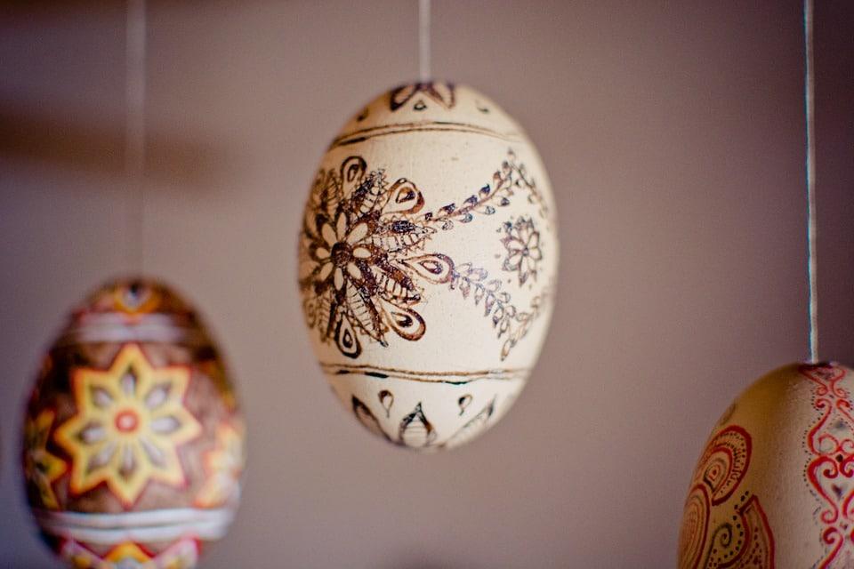 Malovaná velikonoční vejce.
