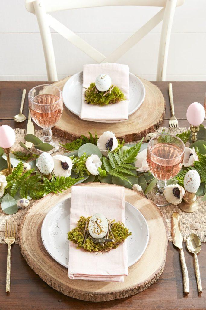 Ukázka velikonoční výzdoby stolu