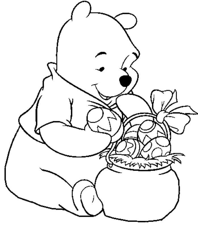 Velikonoční omalovánky s medvídkem Pú