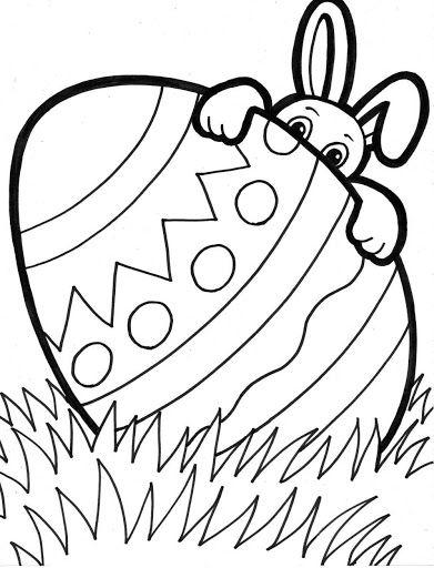 Omalovánky se zajícem a vejcem
