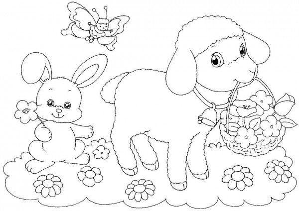 Velikonoční omalovánky s ovečkou