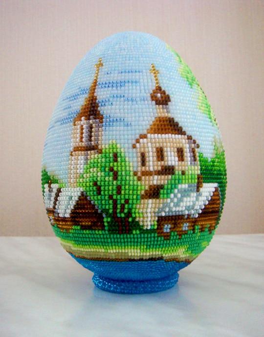 Vajíčko s obrázkem z korálků