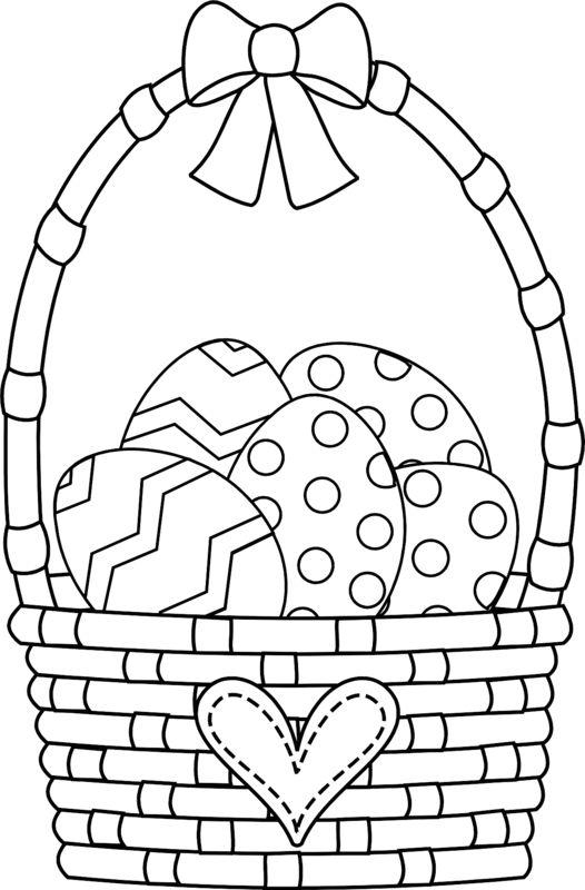 Velikonoční košík omalovánky