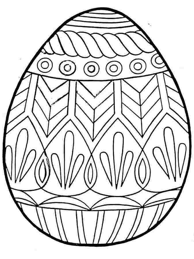 Omalovánky s velikonočním vejcem