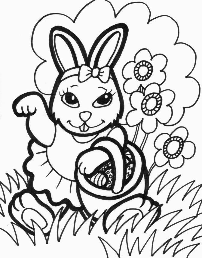 Omalovánky s velikonočním zajíčkem