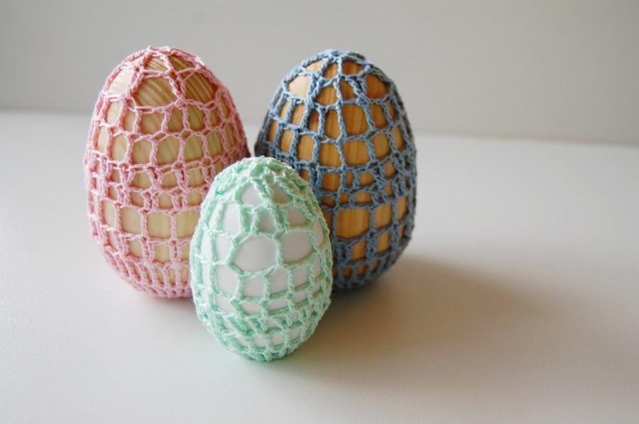 Velikonoční háčkované kraslice.