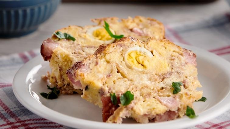 Nádivka s vajíčky na velikonoční pondělní oběd.