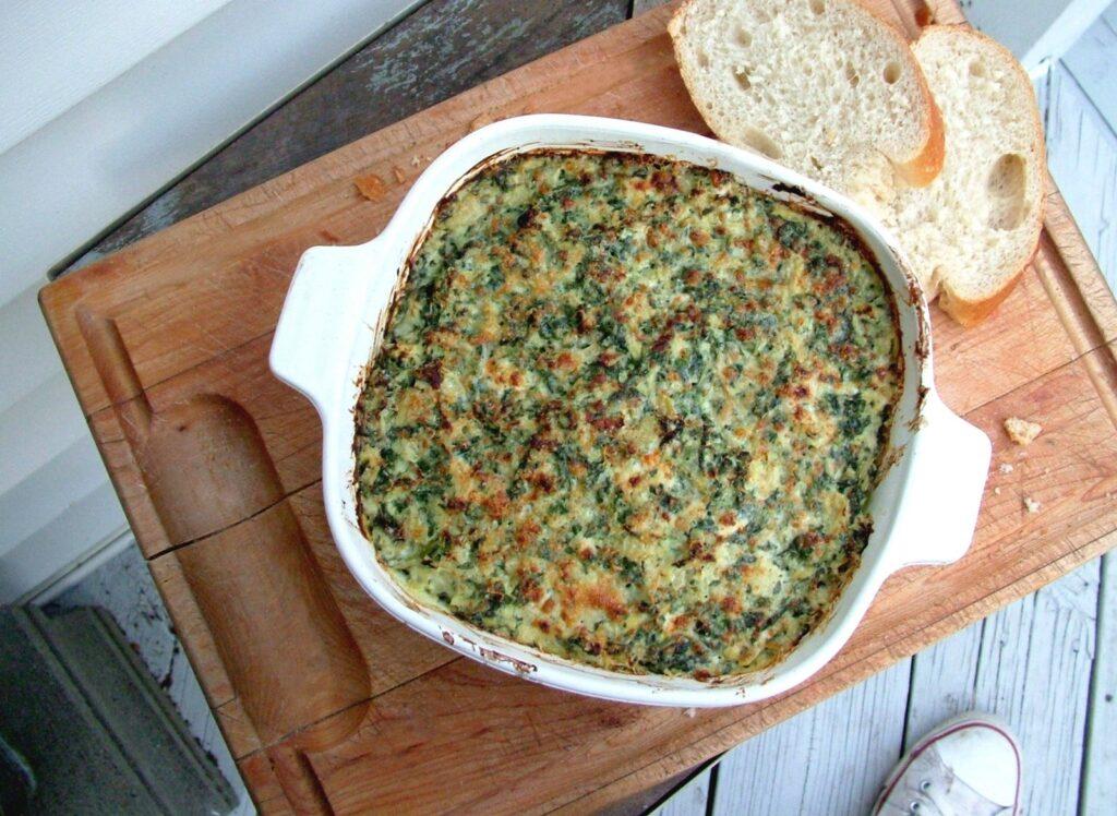 Nákyp ze špenátu jako oběd na Škaredou středu.