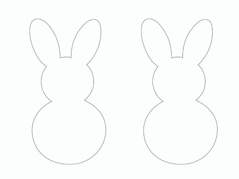 Šablona na obkreslení zajíčka z papíru.