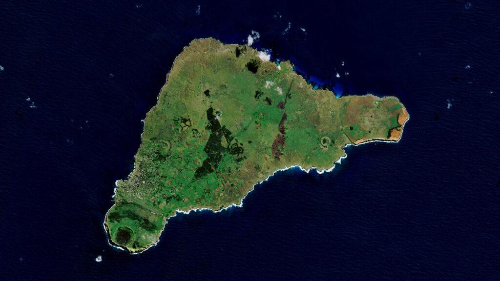 Velikonoční ostrov připomíná tvar trojúhelníku.