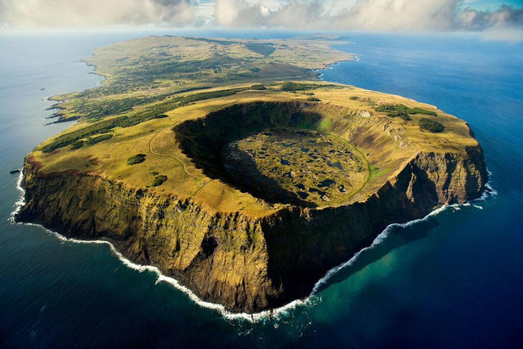 Pohled na Velikonoční ostrov.