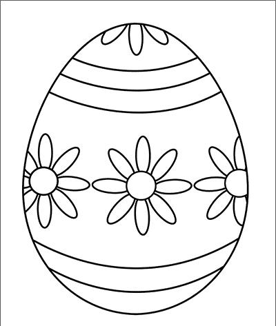 Vajíčko k vytvoření velikonoční dekorace.
