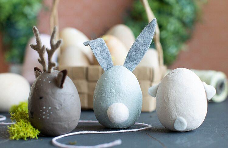 Tvoření velikonočních vajíček s motivem zvířátek.